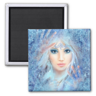 Ice Princess Square Magnet