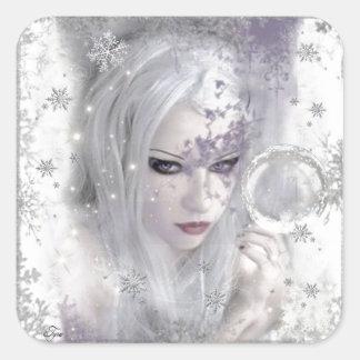 Ice Princess Square Sticker