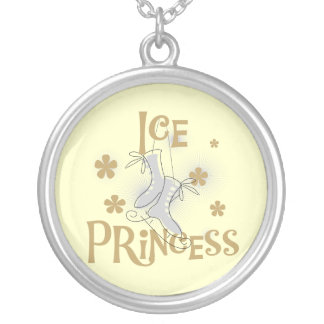 Ice Princess T-shirts and Gifts Silver Plated Necklace