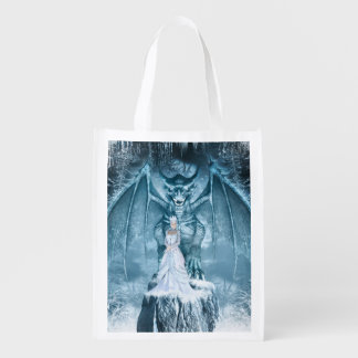 Ice Queen and Dragon Reusable Grocery Bag