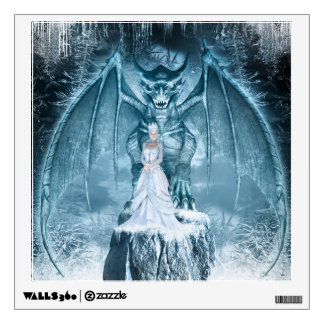 Ice Queen and Dragon Wall Decal