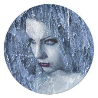 ice queen party plate