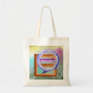 Ice Ring Abstract Design Tote Bag