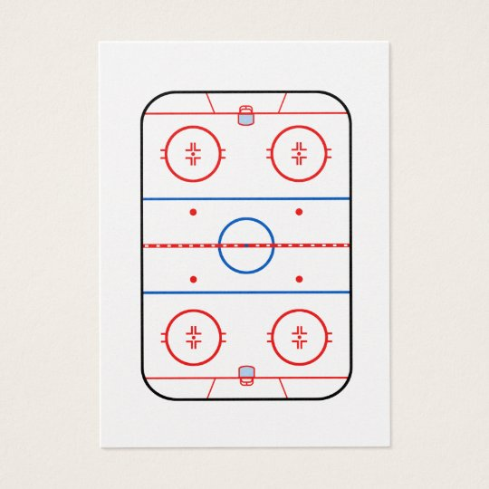 Ice Rink Diagram Hockey Game Companion Zazzle