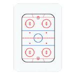 Ice Rink Diagram Hockey Game Companion 3.5x5 Paper Invitation Card