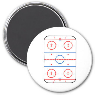 Ice Rink Diagram Hockey Game Companion 3 Inch Round Magnet