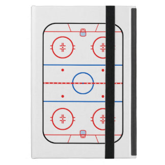 Ice Rink Diagram Hockey Game Companion iPad Mini Cover
