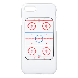 Ice Rink Diagram Hockey Game Companion iPhone 8/7 Case