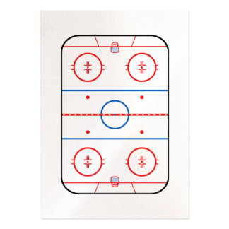 Ice Rink Diagram Hockey Game Companion Large Business Card