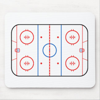Ice Rink Diagram Hockey Game Companion Mouse Pad