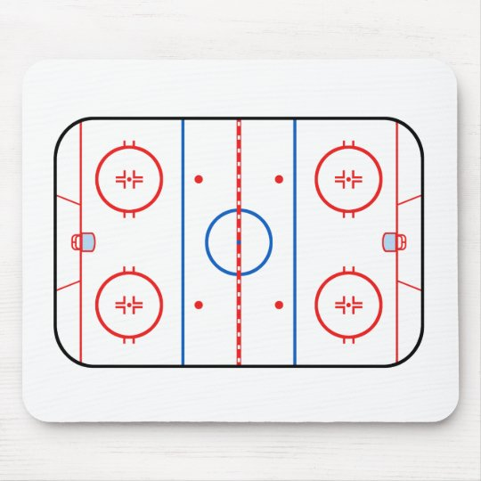 Ice Rink Diagram Hockey Game Companion Mouse Pad Zazzle