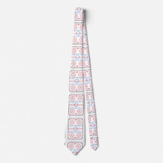 Ice Rink Diagram Hockey Game Companion Neck Tie