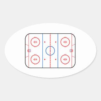 Ice Rink Diagram Hockey Game Companion Oval Sticker