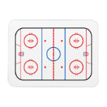 Ice Rink Diagram Hockey Game Companion Vinyl Magnets
