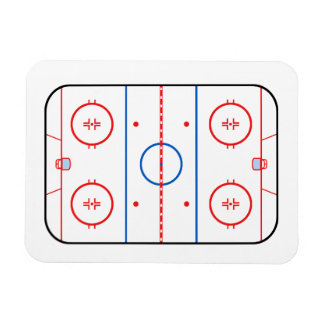 Ice Rink Diagram Hockey Game Companion Rectangular Photo Magnet