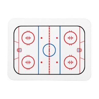 Ice Rink Diagram Hockey Game Companion Rectangular Photo Magnet