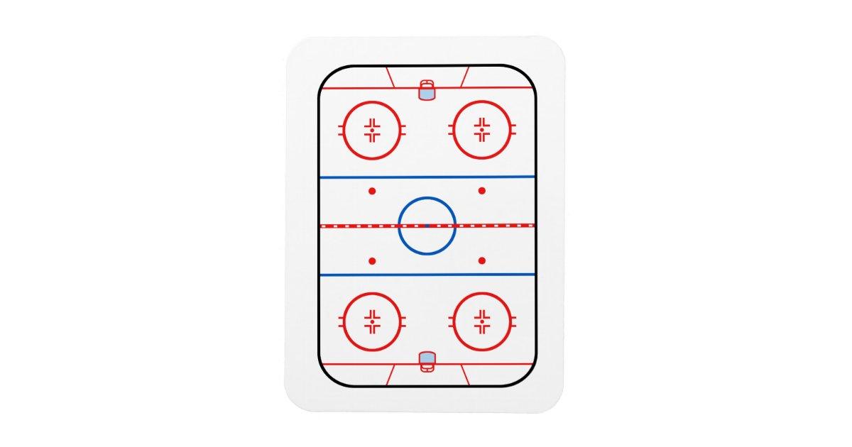 Ice Rink Diagram Hockey Game Companion Rectangular Photo ...