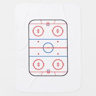 Ice Rink Diagram Hockey Game Companion Baby Blanket