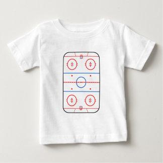 Ice Rink Diagram Hockey Game Decor Baby T-Shirt