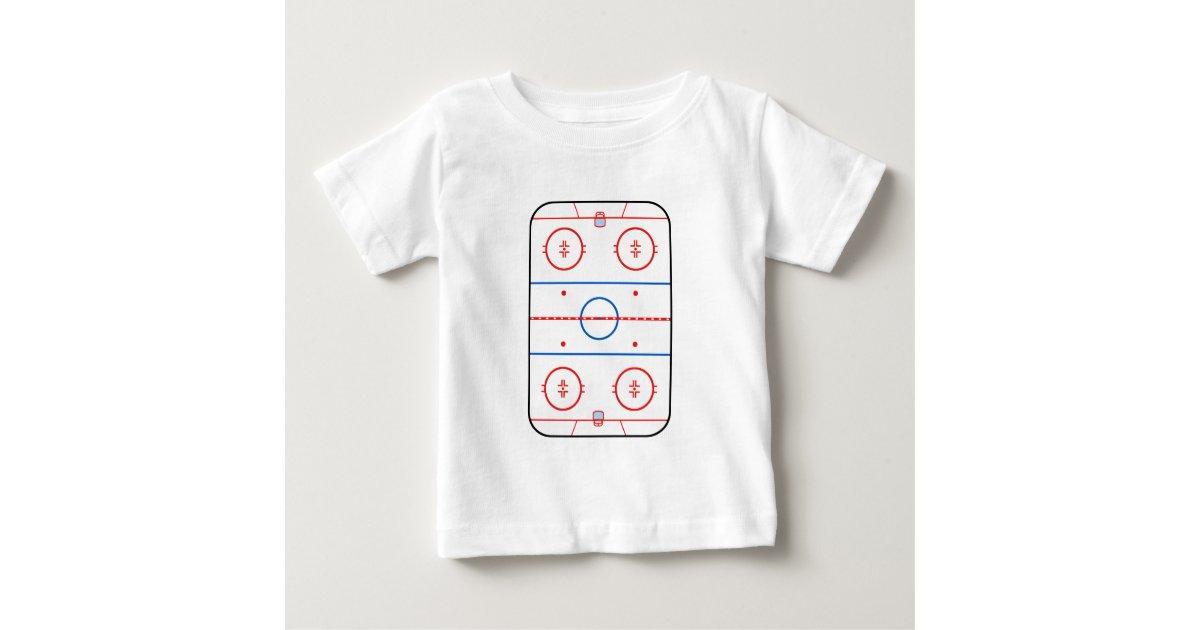 Ice Rink Diagram Hockey Game Decor Baby T Shirt Zazzle