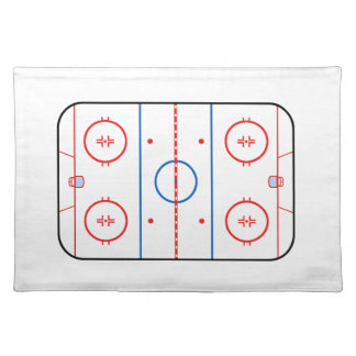 Ice Rink Diagram Hockey Game Decor Cloth Placemat