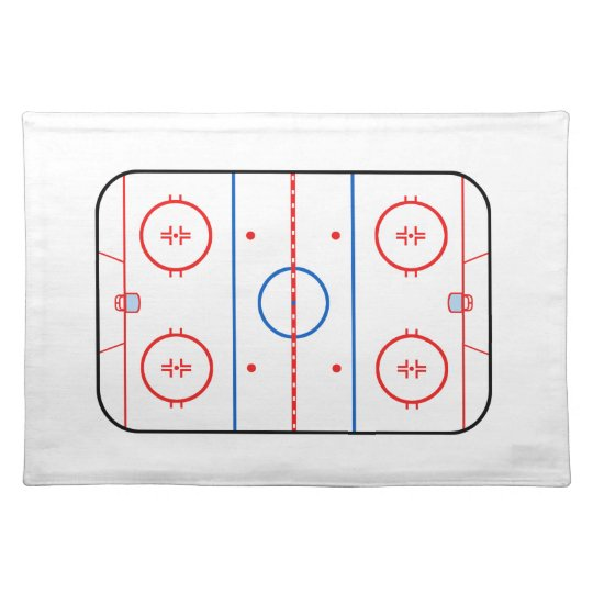 Ice Rink Diagram Hockey Game Decor Cloth Placemat Zazzle