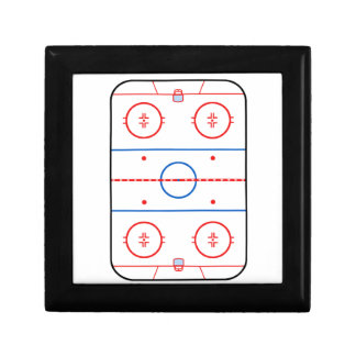 Ice Rink Diagram Hockey Game Decor Gift Box