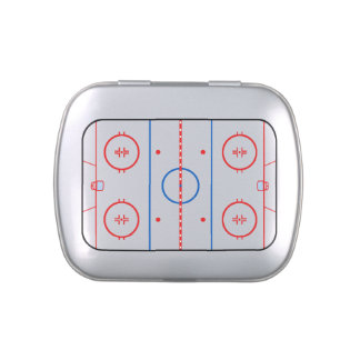 Ice Rink Diagram Hockey Game Decor Jelly Belly Candy Tin