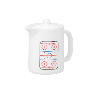 Ice Rink Diagram Hockey Game Decor Teapot