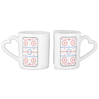 Ice Rink Diagram Hockey Game Design Coffee Mug Set