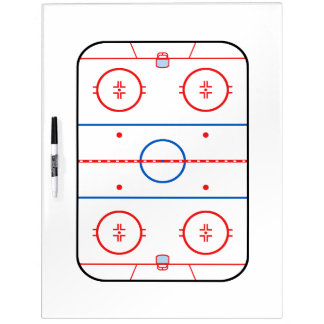 Ice Rink Diagram Hockey Game Design Dry-Erase Board