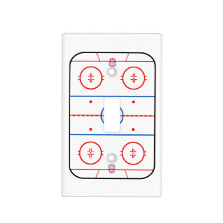 Ice Rink Diagram Hockey Game Design Light Switch Cover