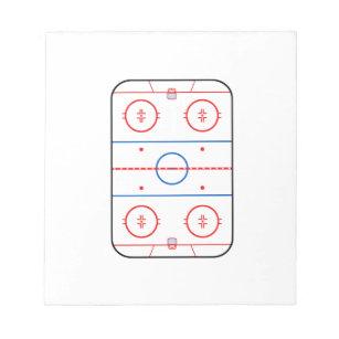 Hockey Game Notepads   Zazzle