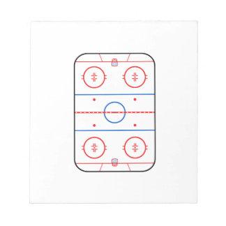 Ice Rink Diagram Hockey Game Design Notepad