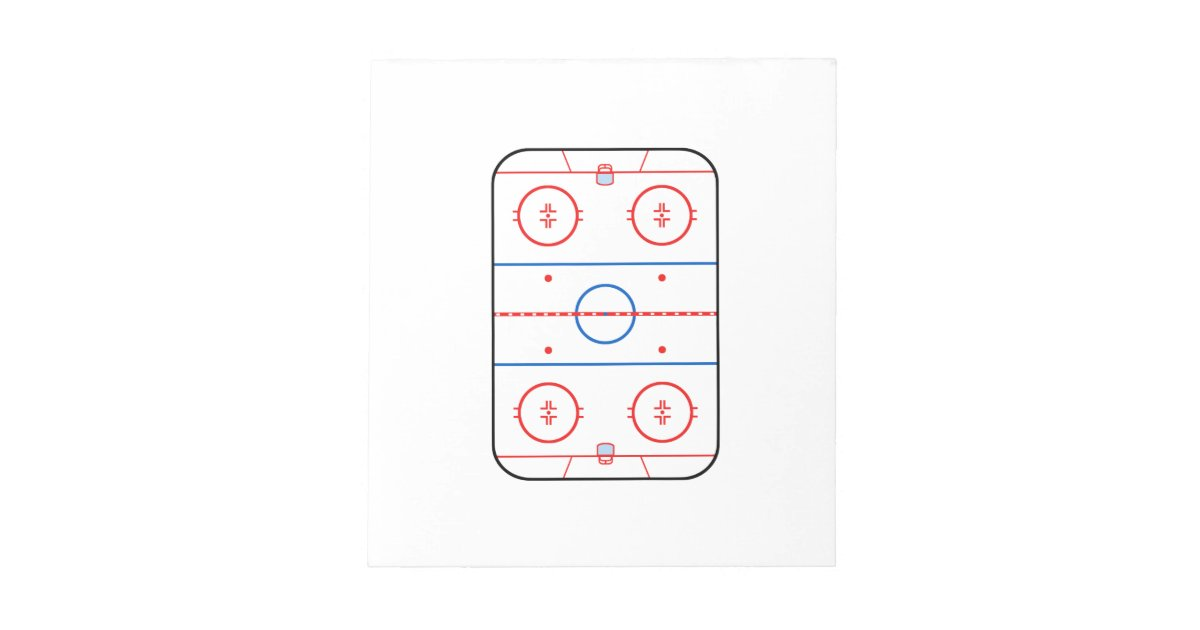 Ice Rink Diagram Hockey Game Design Notepad Zazzle