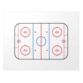 Ice Rink Diagram Hockey Game Design Notepad