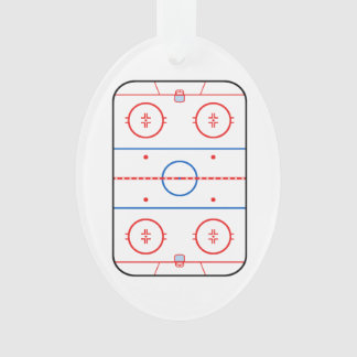Ice Rink Diagram Hockey Game Design Ornament