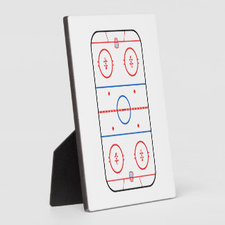 Ice Rink Diagram Hockey Game Design Plaque