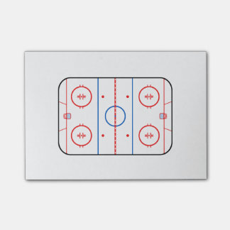 Ice Rink Diagram Hockey Game Design Post-it Notes