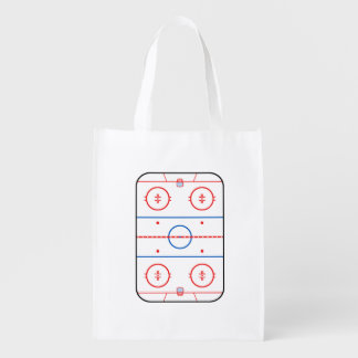 Ice Rink Diagram Hockey Game Graphic Grocery Bag
