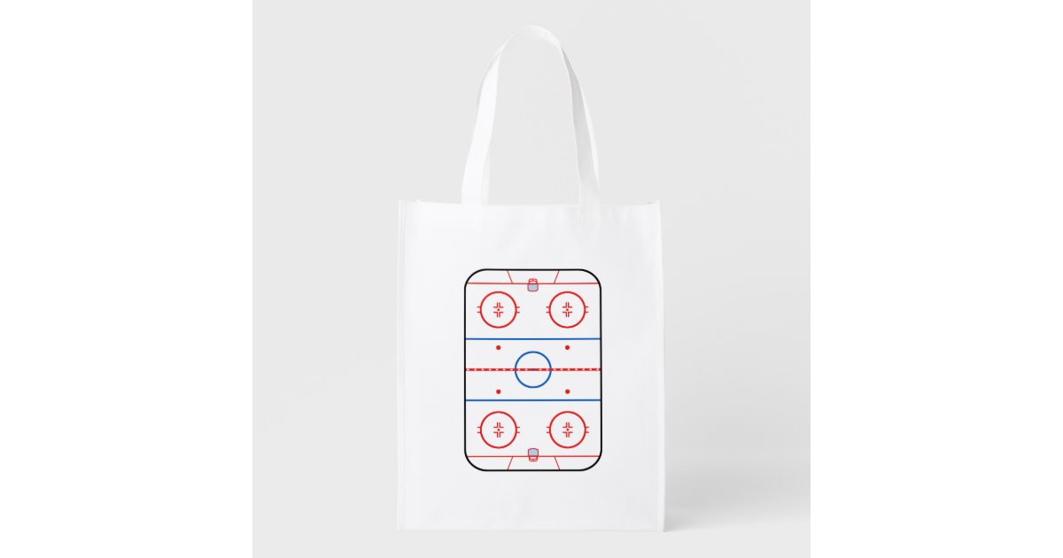 Ice Rink Diagram Hockey Game Graphic Grocery Bag Zazzle
