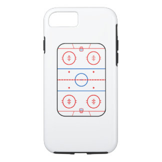 Ice Rink Diagram Hockey Game Graphic iPhone 7 Case