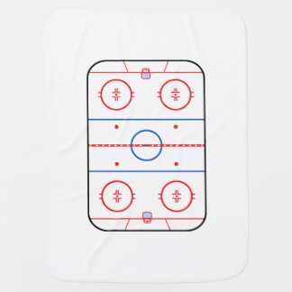 Ice Rink Diagram Hockey Game Graphic Receiving Blanket