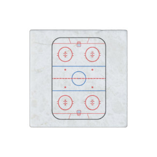 Ice Rink Diagram Hockey Game Graphic Stone Magnet