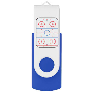 Ice Rink Diagram Hockey Game Style USB Flash Drive