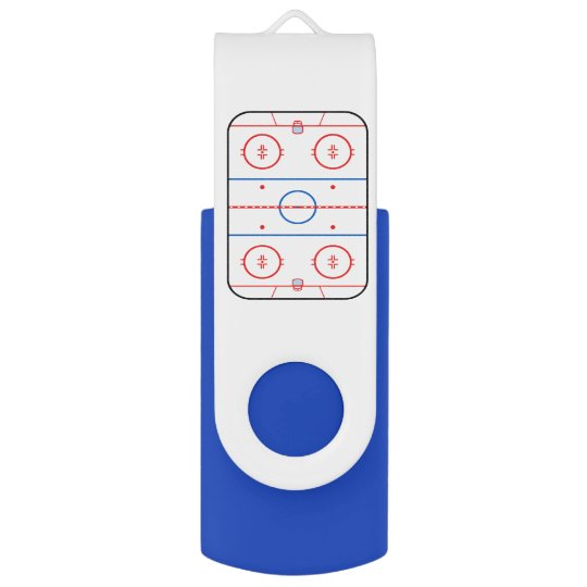 Ice Rink Diagram Hockey Game Style Usb Flash Drive Zazzle