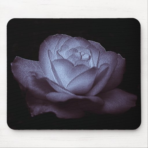 ice rose lavender mouse mats