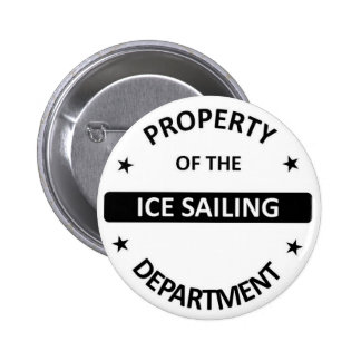 Ice sailing Department Pinback Button