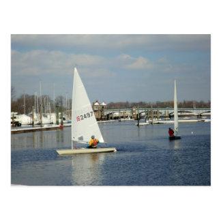 ice sailing postcard