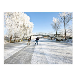 Ice scating in the Netherlands Postcards